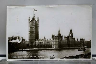 United Kingdom UK House of Parliament London Postcard Old Vintage Card View Post