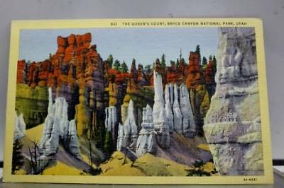 Utah UT Queens Court Bryce Canyon Park Postcard Old Vintage Card View Standard