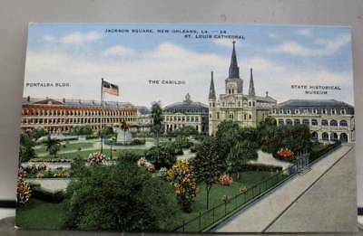Louisiana LA Jackson Square New Orleans Postcard Old Vintage Card View Standard