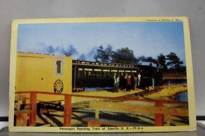 Scenic Passenger Boarding Train Edaville Railroad Postcard Old Vintage Card View