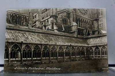 United Kingdom UK Lincoln Cathedral Cloisters Postcard Old Vintage Card View PC
