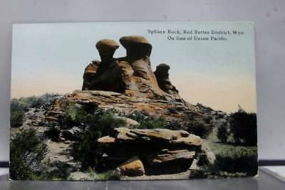 Wyoming WY Sphinx Rock Red Buttes Postcard Old Vintage Card View Standard Post
