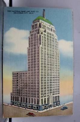 Oklahoma City OK First National Bank Postcard Old Vintage Card View Standard PC