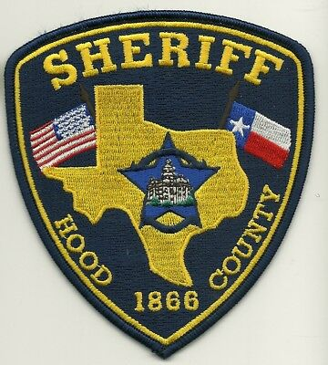 Hood County Sheriff State TEXAS TX Shoulder Patch