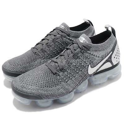 Nike Air Vapormax Flyknit 2 II Dark Grey Chrome Men Running Shoes 942842-014
