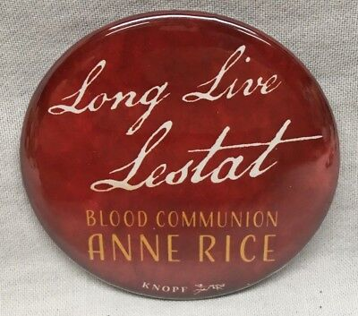 ANNE RICE Blood Communion Long Live NYCC Comic Con 2018 EXCLUSIVE PROMO PIN