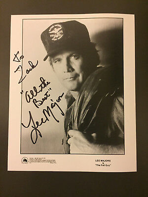 Lee Majors Hand Signed Autograph 8x10 Photograph Six Million Dollar Man Fall Guy