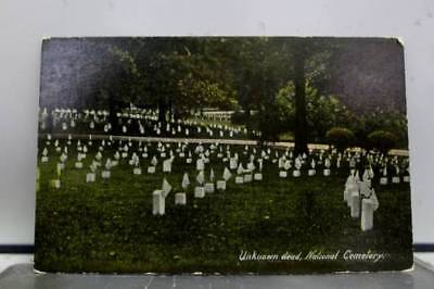 Scenic National Cemetery Unknown Dead Postcard Old Vintage Card View Standard PC