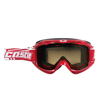 Castle Launch Snow Goggles Red/White