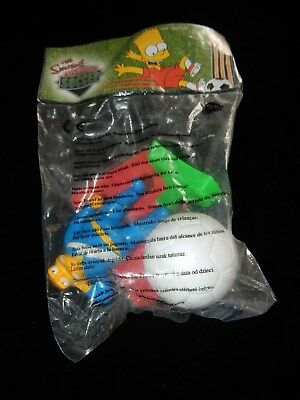 2002 Burger King The Simpsons Springfield Soccer Figurines New BARNEY