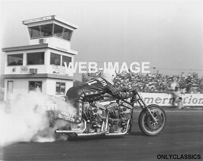 1974 Harley-Davidson Twin Engine Racing Motorcycle Drag Bike Photo Horse Power++
