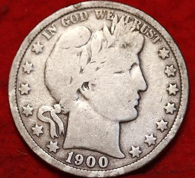 1900-O New Orleans Mint Silver Barber Half Dollar