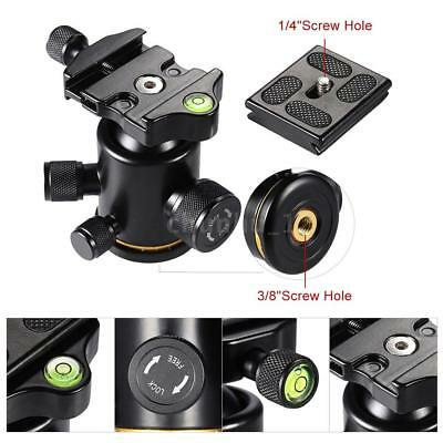 360° Swivel Camera Tripod Ball Head with Quick Release Plate Mount Holder O7B2