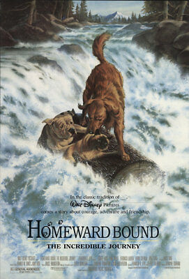 HOMEWARD BOUND: THE INCREDIBLE JOURNEY orig 27x40 D/S movie poster (th43)