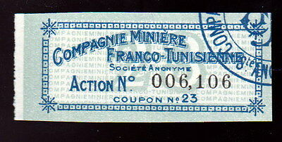 Obligation Compagnie Miniere Franco-Tunisienne - Cooupon No. 23 - 0444