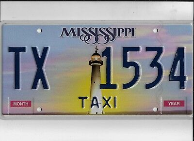 """MISSISSIPPI license plate """"TX 1534"""" ***MINT***TAXI***"""