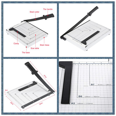 A4 to B7Commercial Heavy Duty Guillotine Paper Cutter Photo Trimmer Steel US hot
