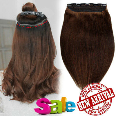 Russian One Piece Clip in 100% Human Remy Hair Extensions 3/4Full Head UK GY203