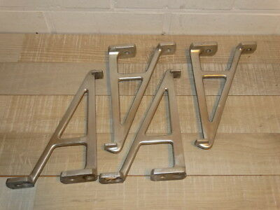 4 Old Industrial shelf holders in aluminum
