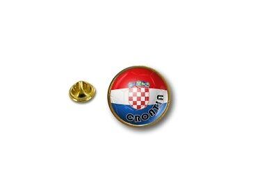 pins pin's flag badge metal lapel hat button flag soccer foot football croatia