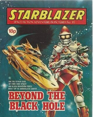 Beyond The Black Hole,starblazer Space Fiction Adventure In Pictures,comic,no.85