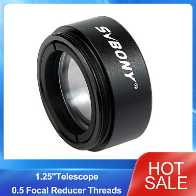 "SVBONY 1.25""Telescope 0.5 Focal Reducer Threads M28x0.6 for 31.75mm Eyepieces US"