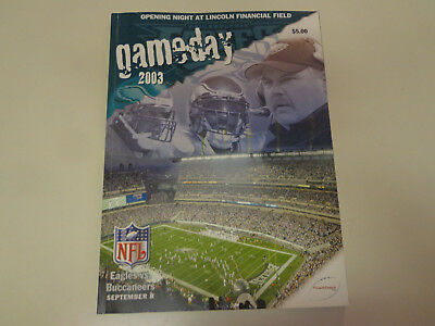 Philadelphia Eagles vs Buccaneers GameDay NFL Football Program 2003 The Linc
