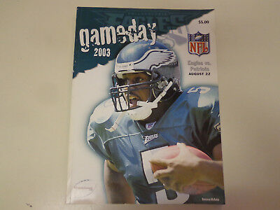 Philadelphia Eagles vs Patriots GameDay NFL Football Program 2003 Lincoln Field