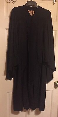 "Vintage ""De Moulin Bros. and Co.""  Black Pulpit/Choir/Graduate Robe~XL/58~VVG"