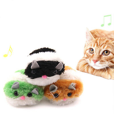 Moving Plush Mouse Funny Rat Playing Toy For Cat Kitten Pet Play Toys HU