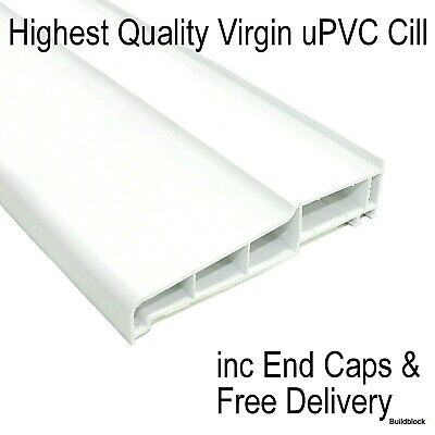 uPVC Window Door External Cill + End Caps PVC Plastic Outside Sill 150mm