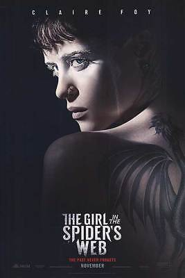 "The Girl in the Spider's Web Adv November Dbl Sided Orig Movie Poster 27""x40"""