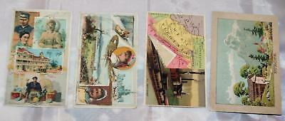 Vintage 1880's Antique Victorian Trade Cards Lot of 4 Arbuckle Country Cards