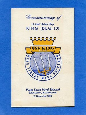 USS King DLG 10 Commissioning Navy Ceremony Program