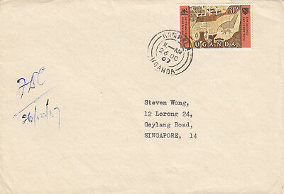 (18961) CLEARANCE Uganda FDC Parliamentary Conference to Singapore 26 Oct 1967