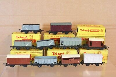 TRIANG  TT GAUGE RAKE of 10 BR IRON ORE MEAT FRUIT MINERAL BRAKE WAGON BOXED