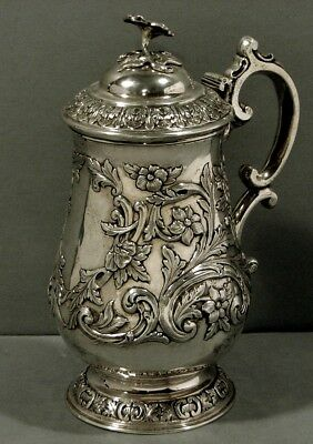 Indian Sterling Tankard  CHARLES NEPHEW  c1850   -  WAS $3800  -  NO RESERVE  -