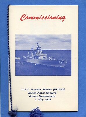 USS Josephus Daniels DLG 27 Commissioning Navy Ceremony Program
