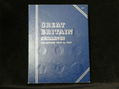 Whitman Folder : Great Britain Shillings Collection 1937 to 1951 (complete)