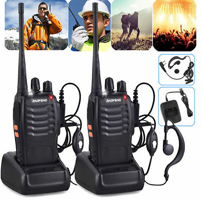 2x BaoFeng Sprechfunkgeräte BF-888S UHF 400-470MHZ 2Way Radio 16CH Handfunkgerät