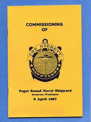 USS Sterett DLG 31 Commissioning Navy Ceremony Program