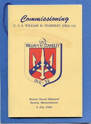 USS William H. Standley DLG 32 Commissioning Navy Ceremony Program