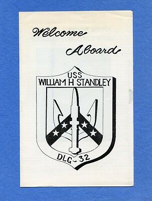 USS William H. Standley DLG 32 Welcome Aboard Navy Ceremony Program