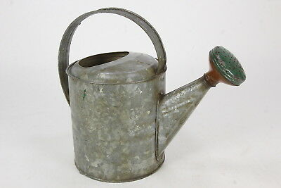 Galvanized Vintage #6 Watering Can W/ Green Rose-Spout Sprinkler 6-Liter