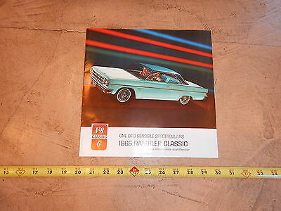 ORIGINAL 1965 RAMBLER AUTOMOBILE DEALER SALES BROCHURE  (lot 39)
