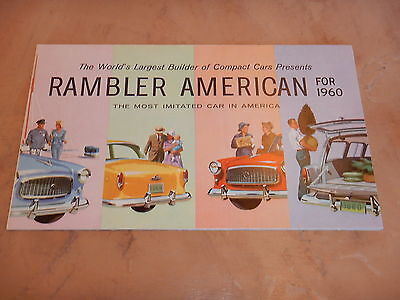 ORIGINAL 1961 RAMBLER AUTOMOBILE DEALER SALES BROCHURE  (lot 71)