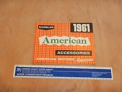 Original 1961 Rambler American Accessories Automobile Dealer Sales Brochure