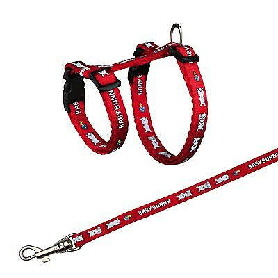 6265 Trixie Nylon Harness With Lead for SMALL RABBITS 4 Colours 20-33cm x 8mm