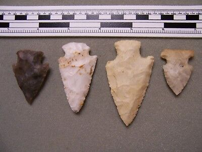 Four Authentic Wisconsin Points From The G.l. Johnson Collection