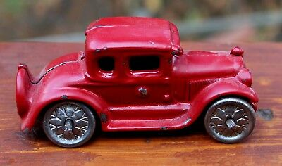 Old Antique 1930's Arcade Cast Iron Car With Repaint